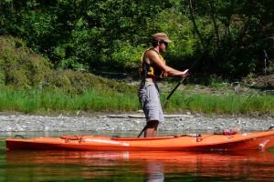 Augustin en kayak