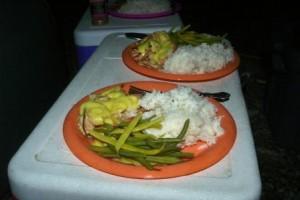 Souper de saumon et de riz